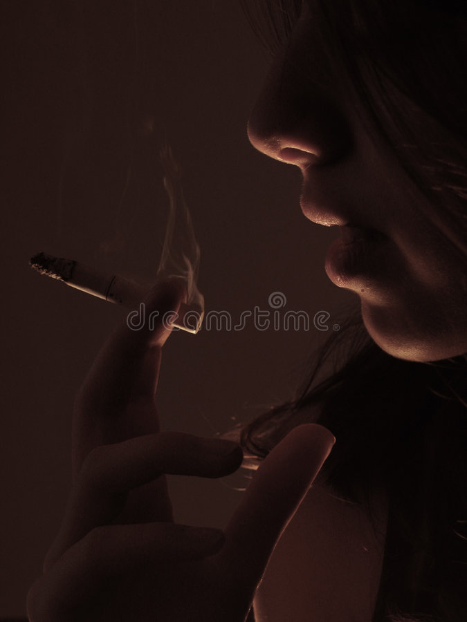 Smoker 2 royalty free stock image