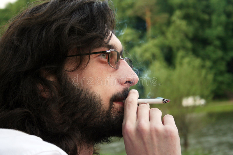 Download Smoker stock image. Image of dark, addiction, inhale, cigarette - 3552833