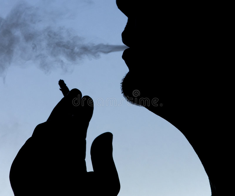 Download The smoker stock image. Image of expression, night, abstract - 4899659