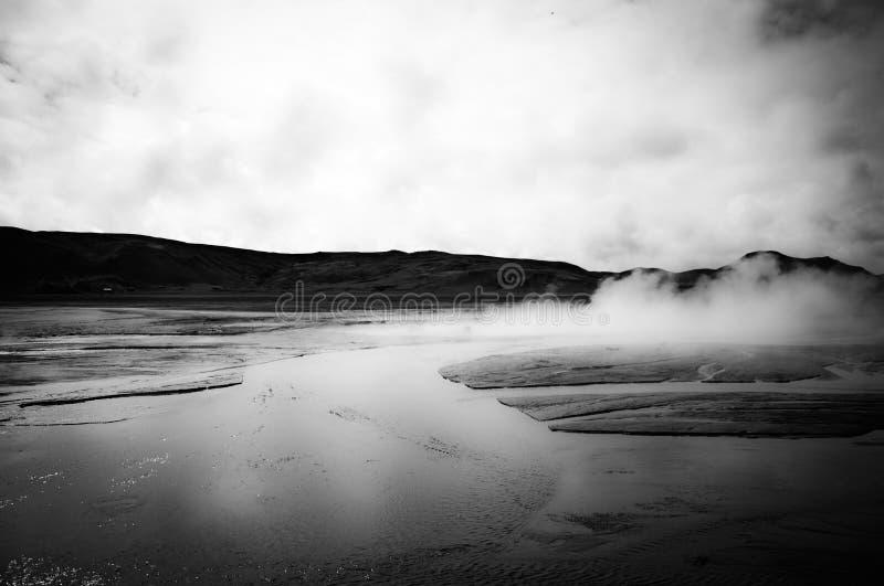 Smokes in Iceland. Near Reykjavík royalty free stock photos