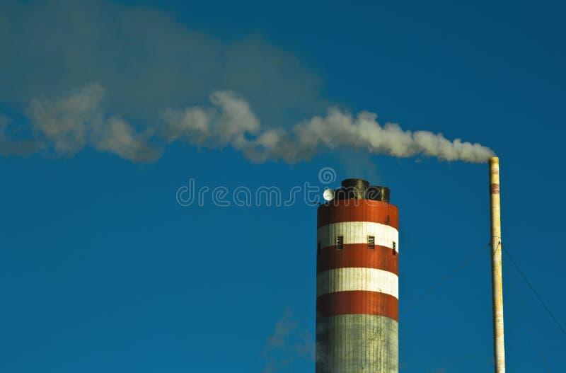 Smokestack bei der Arbeit stockfoto