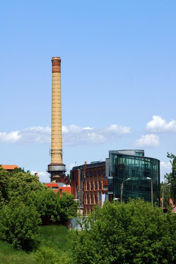 Download Smokestack stock image. Image of poznan, tree, stack - 32214905