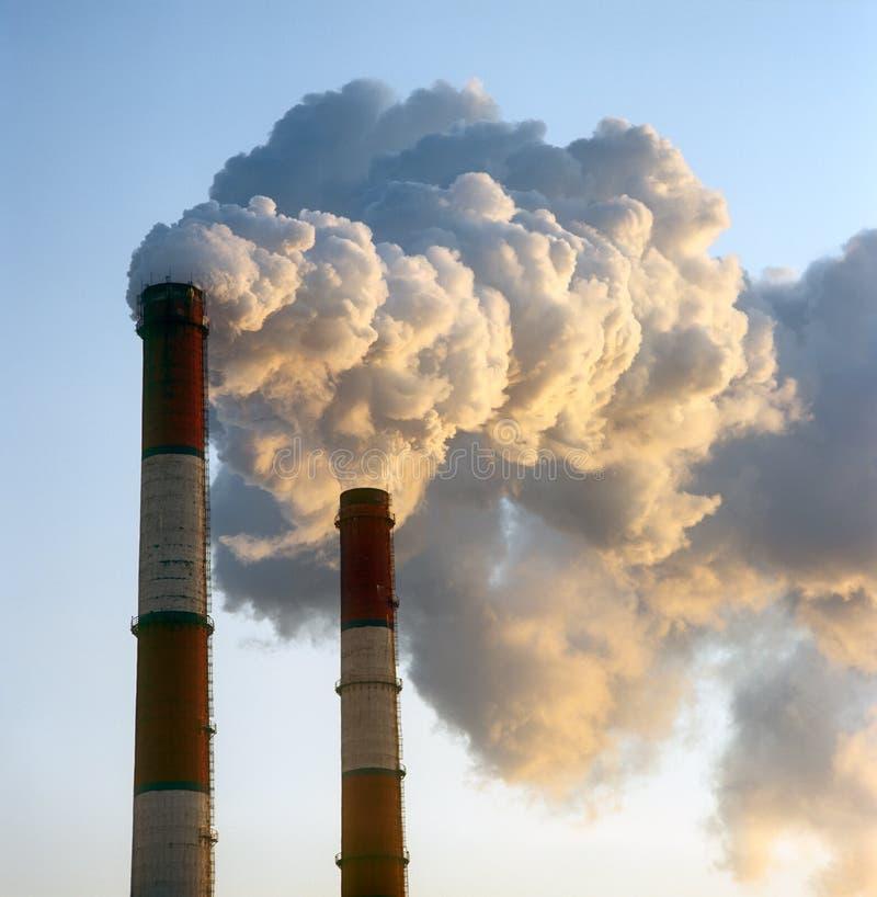 Smokestacks. Stock Photography
