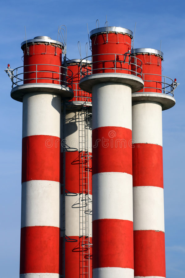 Smokestacks lizenzfreies stockfoto