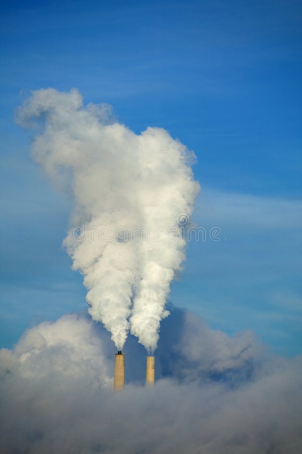 Smokestacks foto de stock royalty free