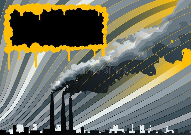 Smokestackshintergrund lizenzfreie abbildung