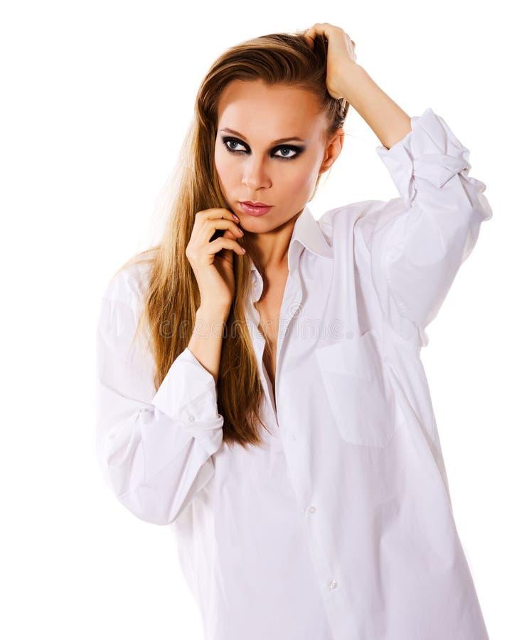 Download Smokey eyes makeup stock photo. Image of sensuality, adult - 16506260