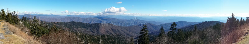 Smokey góry Panoramiczne zdjęcia stock