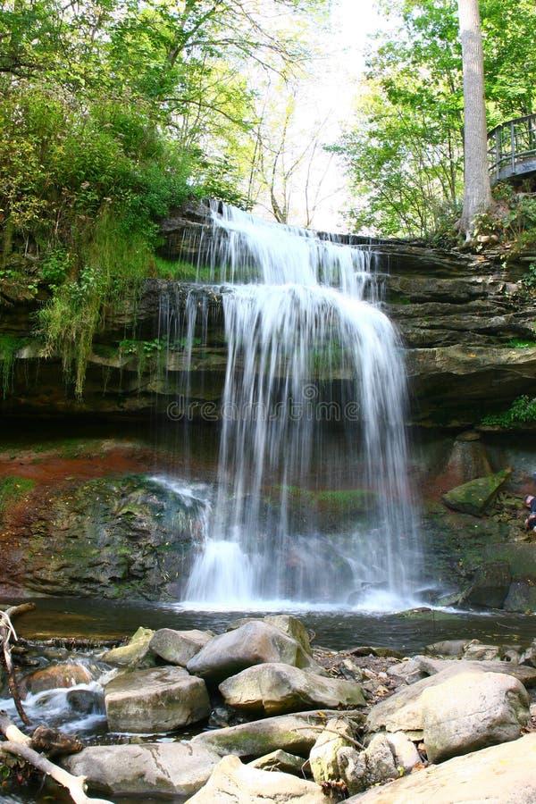 Smokey Hollow Waterfalls arkivbild