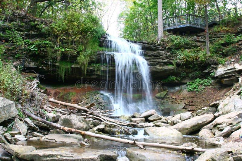 Smokey Hollow Waterfalls royaltyfria foton