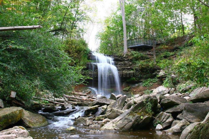 Smokey Hollow Waterfalls imagens de stock royalty free