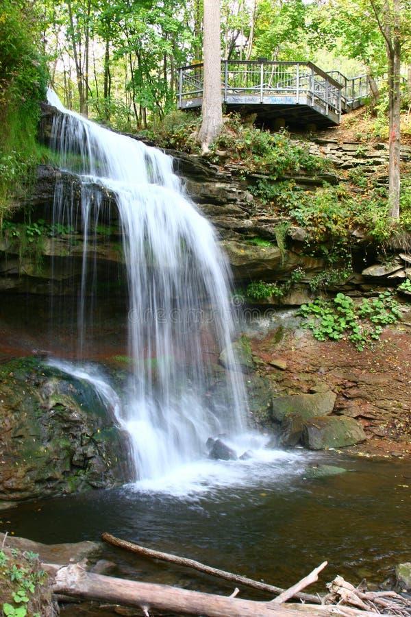 Smokey Hollow Waterfalls imagem de stock royalty free