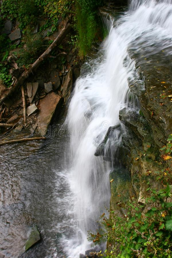 Smokey Hollow Waterfalls stock photo