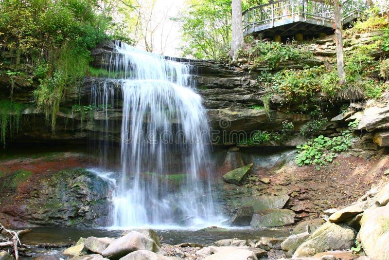 Smokey Hollow Waterfalls. In Waterdown near the GTA area royalty free stock photo