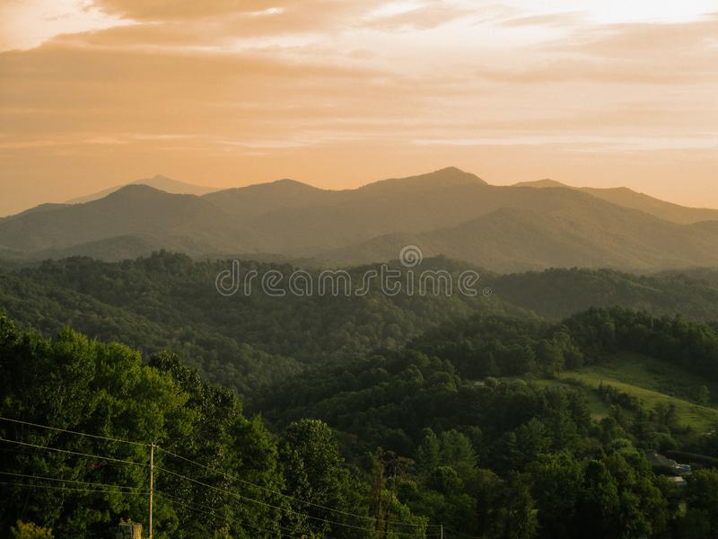 Smokey mountain landscape stock image
