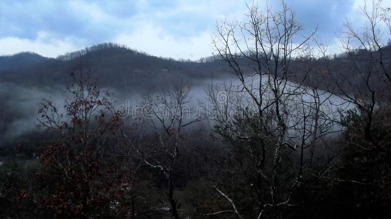 Another Smokey Mountain morning stock images