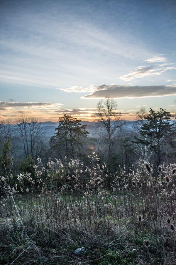 Smokey Mountain Morning sopra la montagna di Jellico fotografia stock libera da diritti