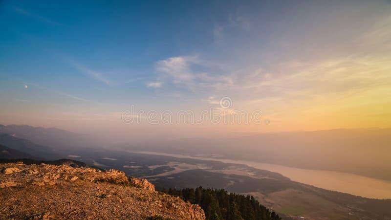 Smokey Mountain Valley royalty-vrije stock afbeeldingen