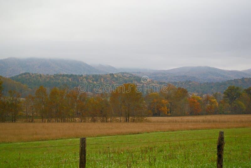 Smokey Mountain Valley royalty-vrije stock afbeelding