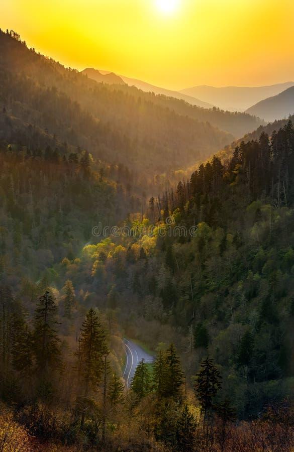Smokey Mountains Sunset stock photos