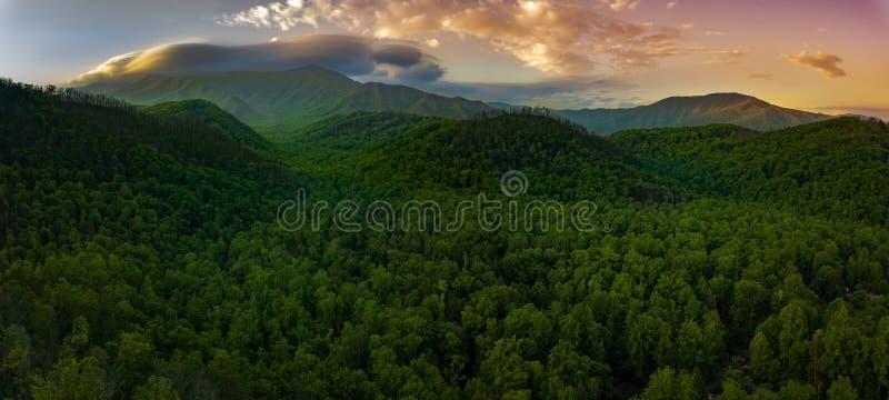 Smokey Mountains Sunset stock photo
