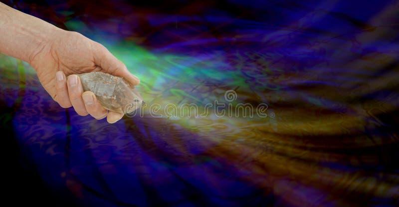 Smokey Quartz Wand energizado fotografia de stock