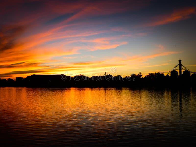 Smokey Sunset 1 stockfoto