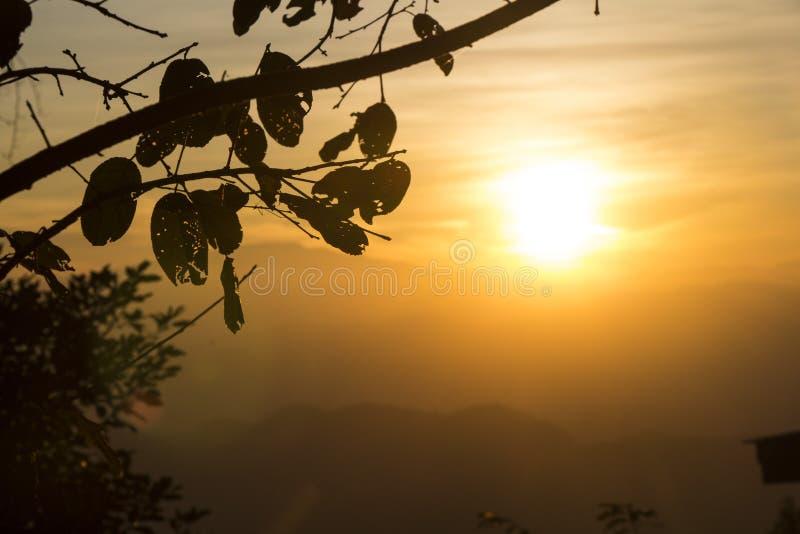 Smokey Sunset royalty-vrije stock foto