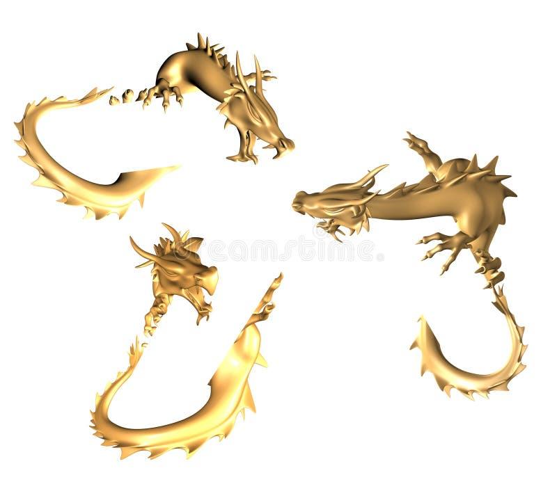 smoki złoci royalty ilustracja