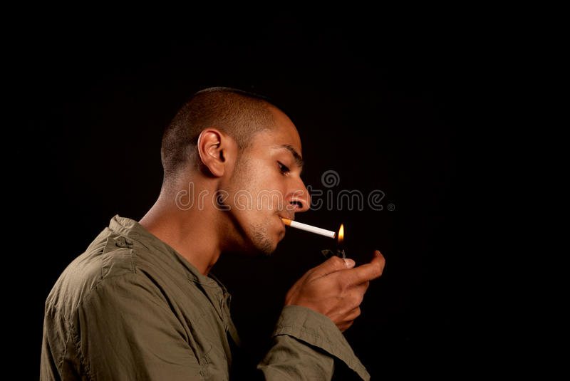 Download Smoking stock image. Image of young, space, eastern, light - 15563887