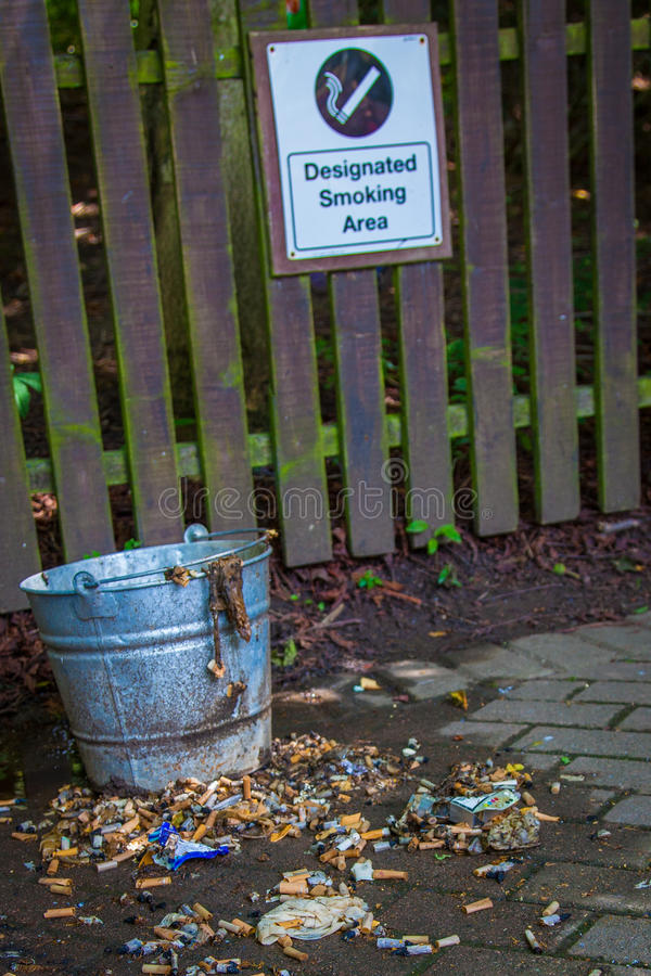 Download Smoking area bin stock photo. Image of permission, addiction - 25830418