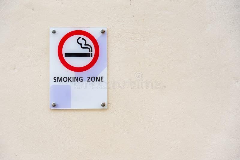 Smoking area sign of D varee diva kiang haad beach hotel Hua Hin. City Prachuab Khirikhan, Thailand stock photos