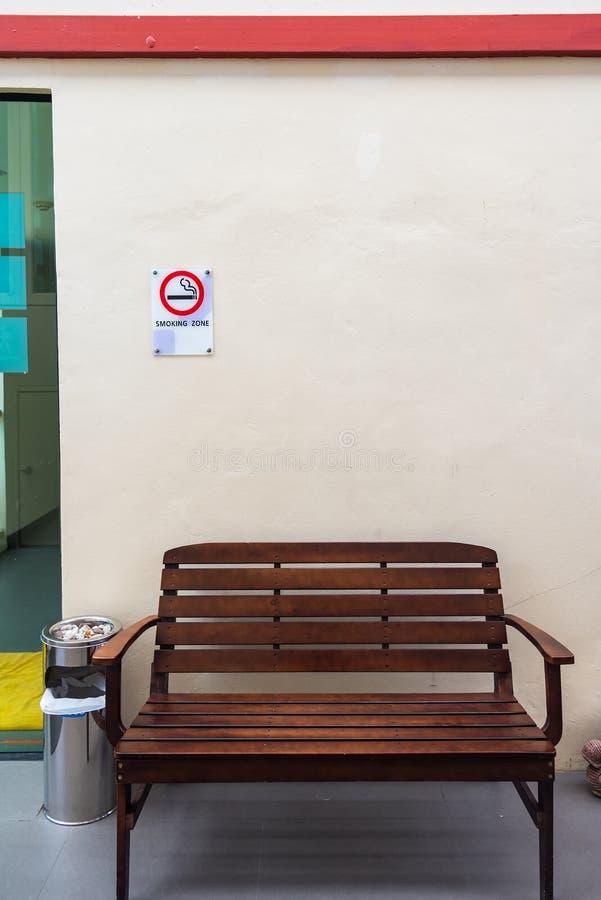 Smoking area sign of D varee diva kiang haad beach hotel Hua Hin. City Prachuab Khirikhan, Thailand royalty free stock images