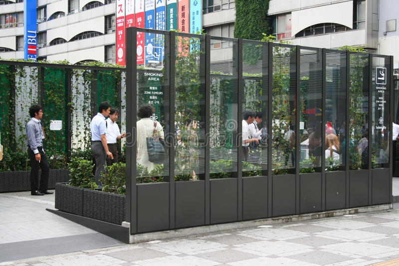Download Smoking Area, Tokyo Japan editorial photo. Image of workers - 33697006