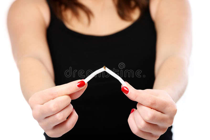 Smoking is bad stock images
