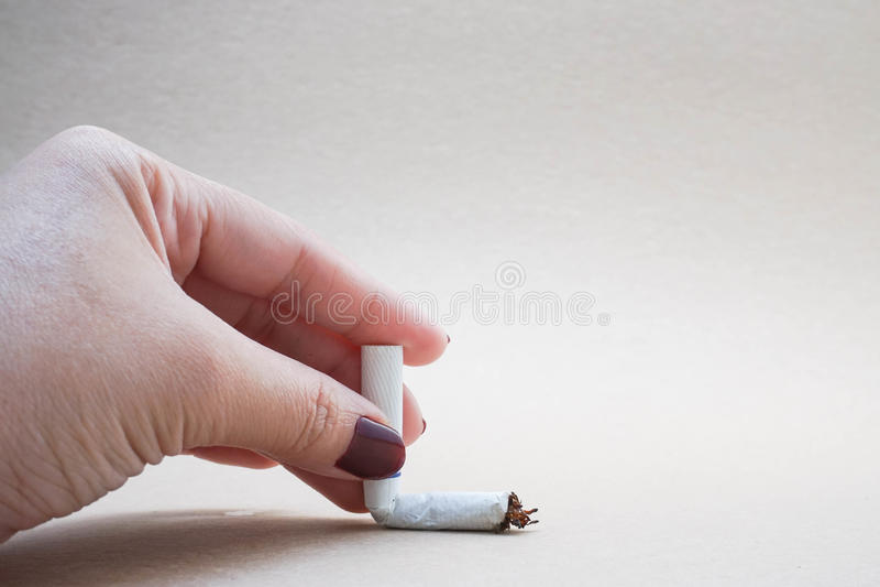 Smoking ban. Conceptual photo of smoking ban royalty free stock photos