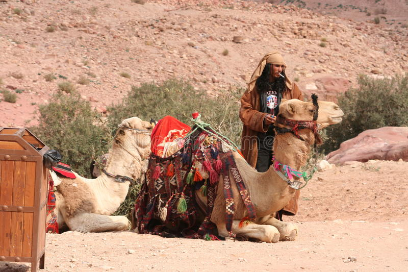 Smoking Bedouin Editorial Photography