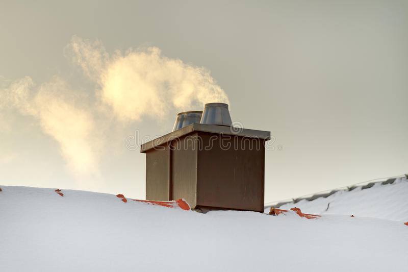 Download Smoking chimney stock photo. Image of cloud, protection - 23460650