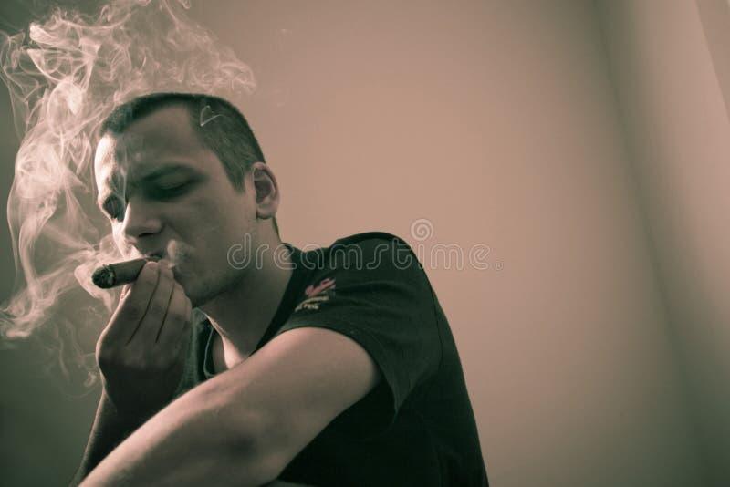 Smoking Cigar Royalty Free Stock Images