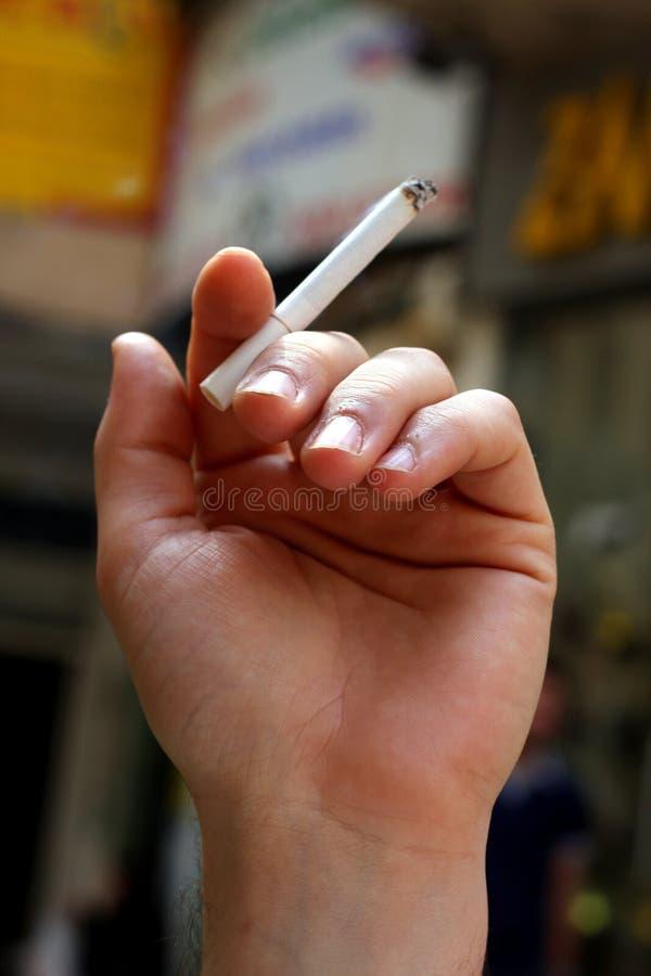 Smoking Cigarette Royalty Free Stock Image