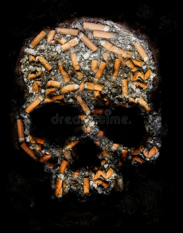 Smoking danger stock images