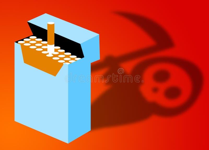 Smoking danger. Danger and toxicity of smoking stock illustration