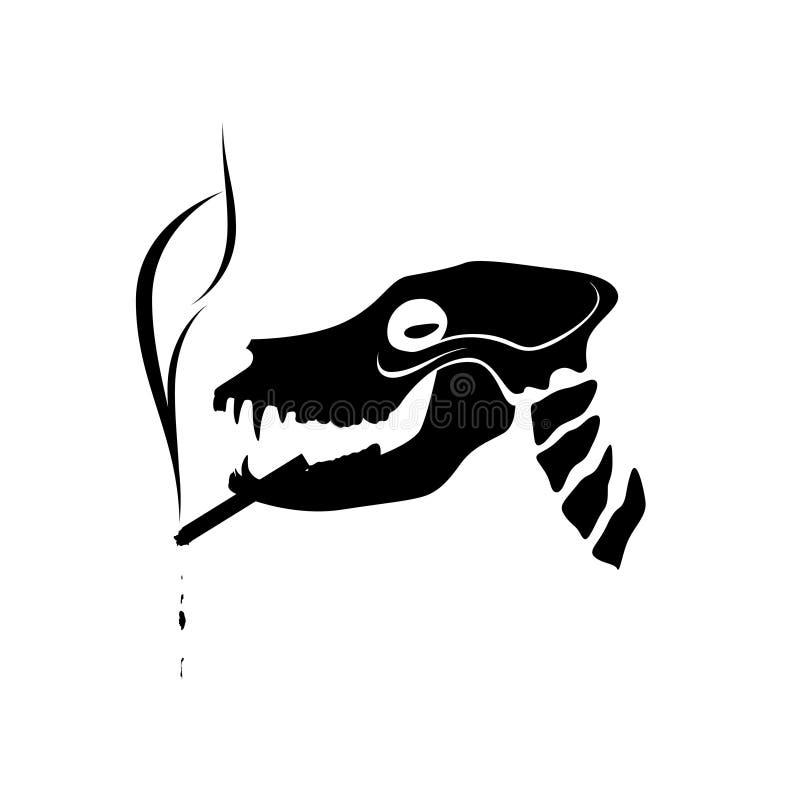 Download Smoking Dog Skeleton Stock Photography - Image: 11257702
