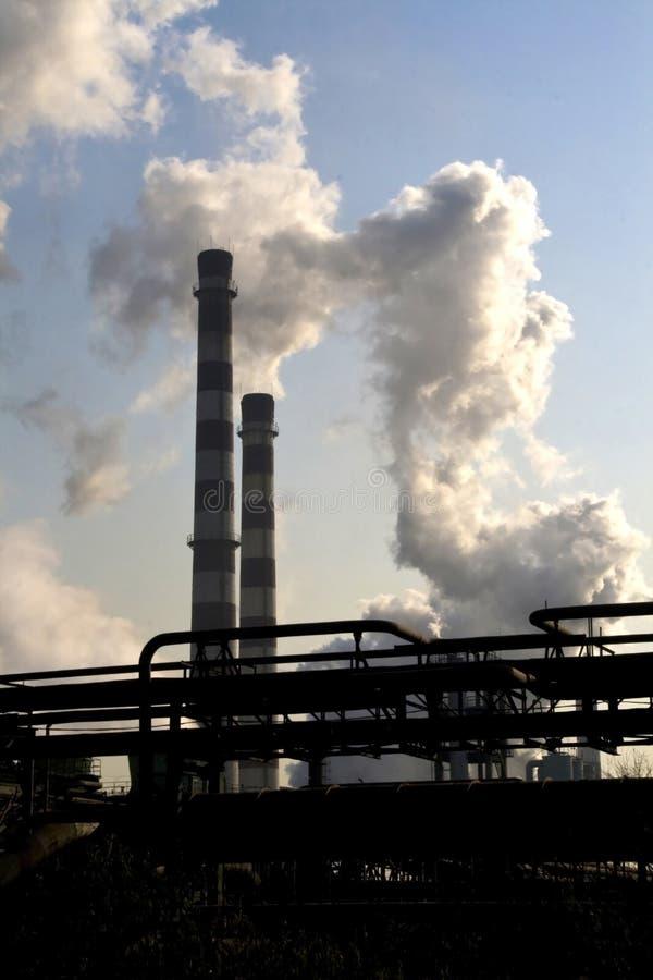 Download Smoking factory chimneys stock photo. Image of tall, billowing - 5549034