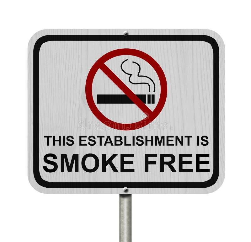 Smoking Free Establishment Sign royalty free stock photos