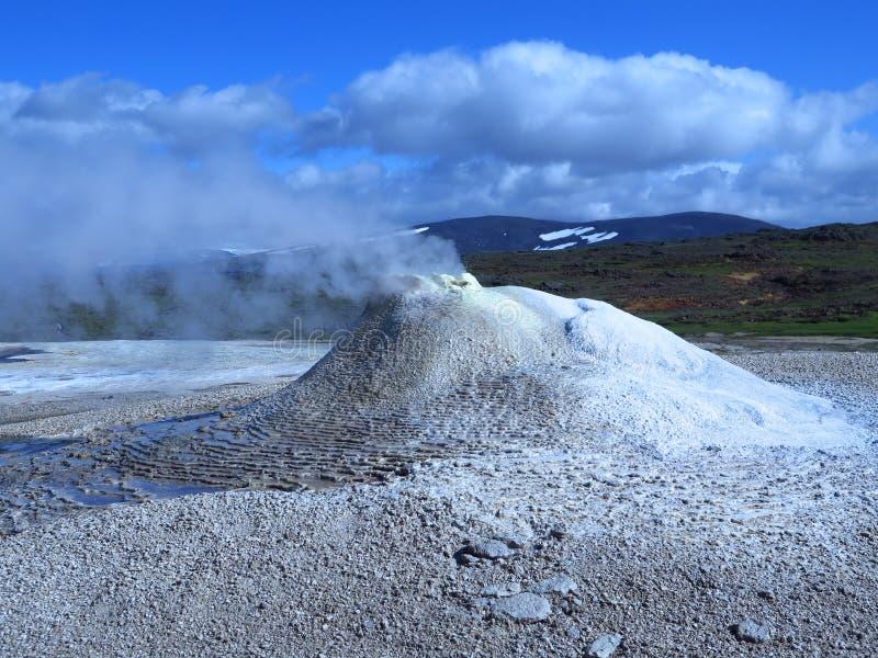 Smoking fumarole in Hveravellir - Iceland stock image