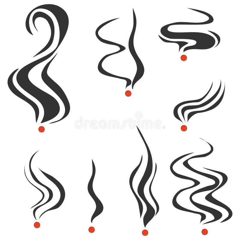 Smoking fumes line royalty free illustration