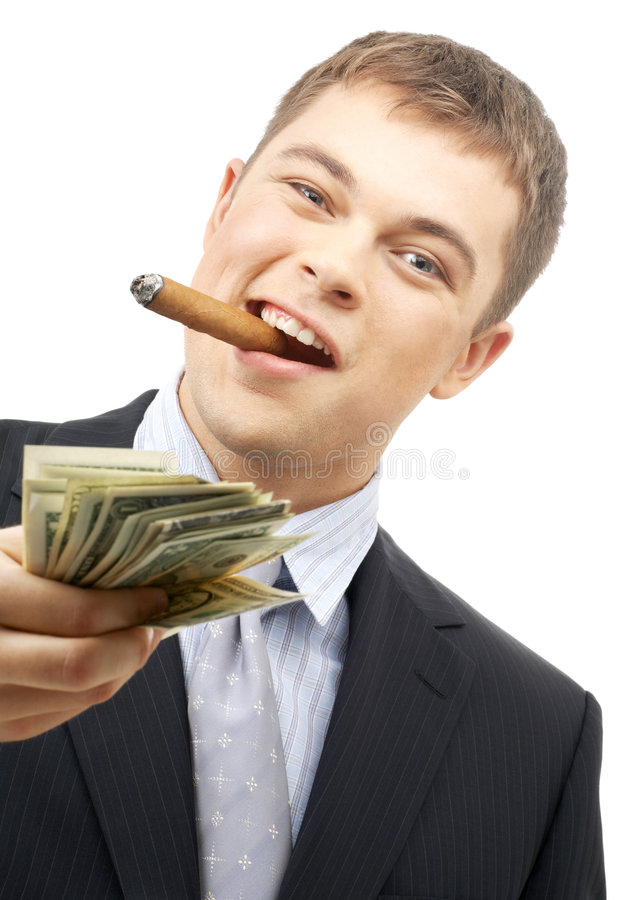 Download Smoking Gangster Holding Dolla Royalty Free Stock Photography - Image: 3513547