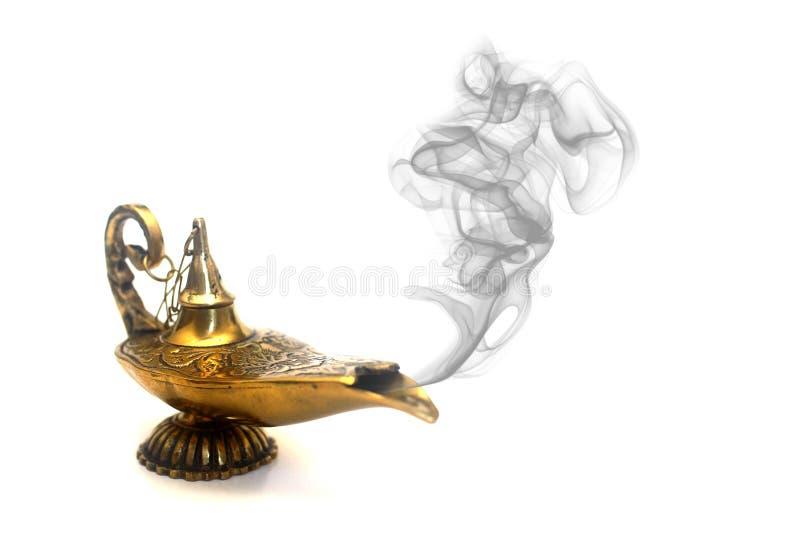Smoking Genie Lamp royalty free stock photo