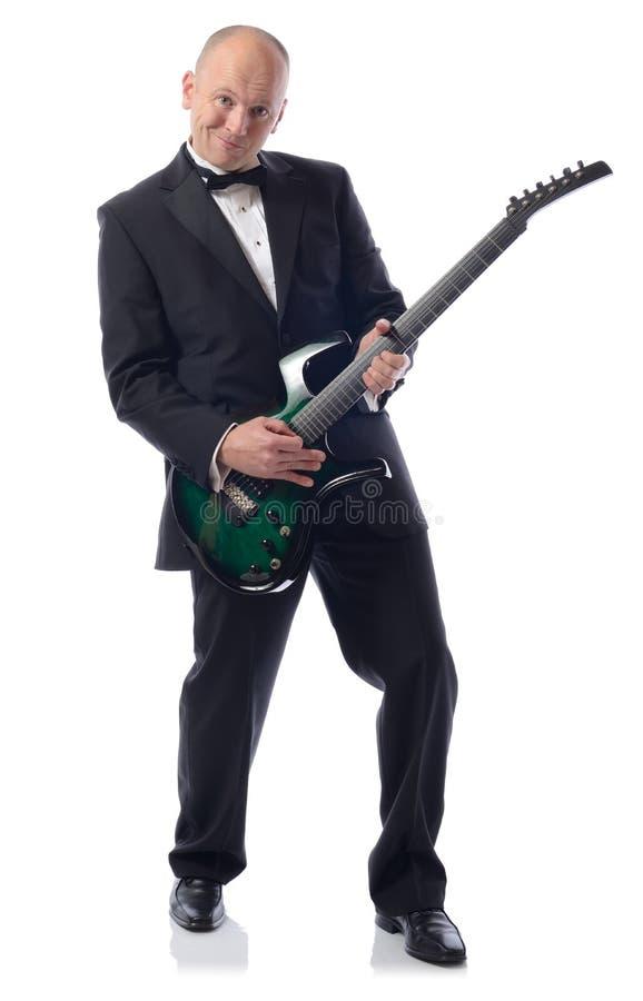 Smoking gitara obraz stock